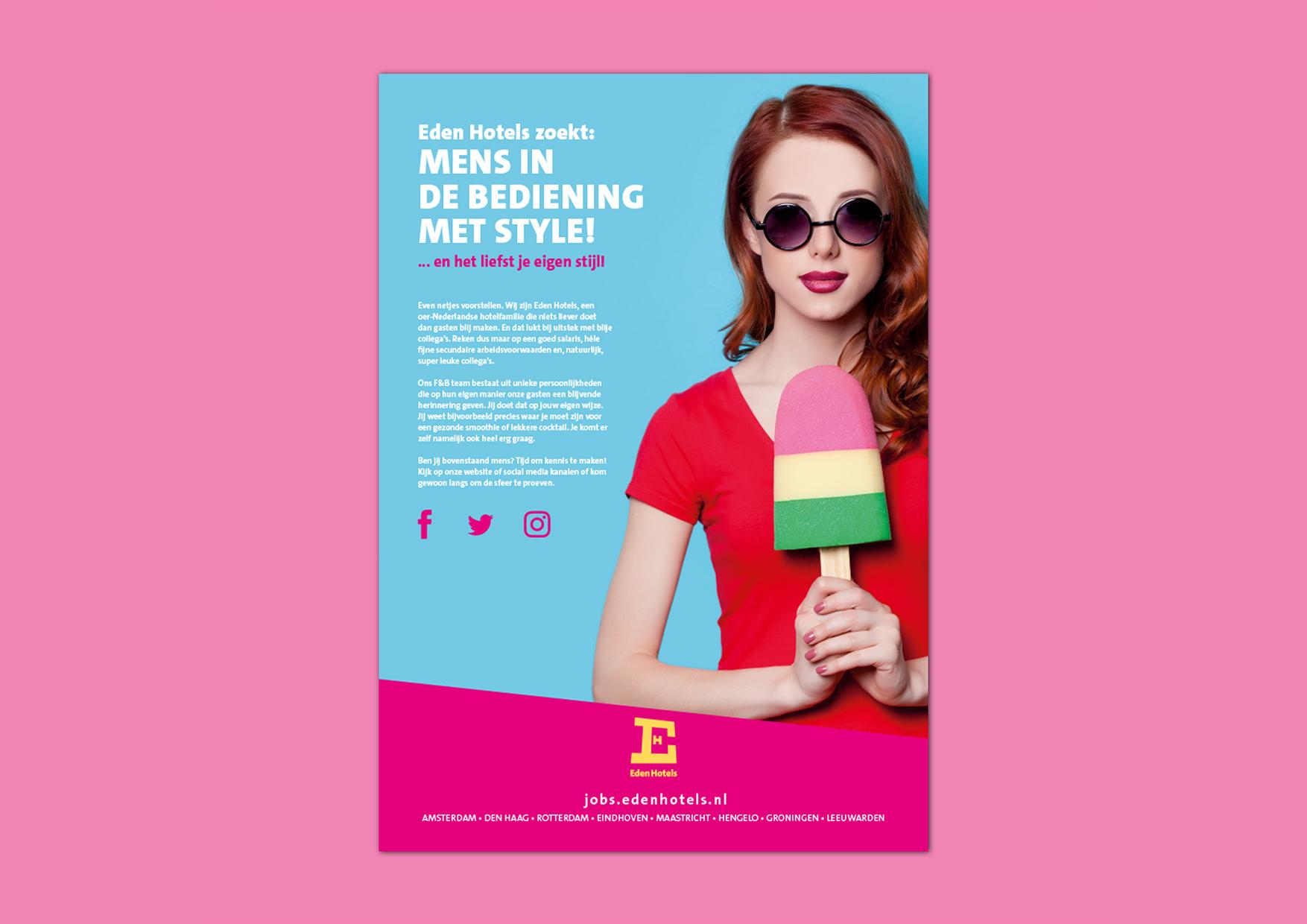 Eden Hotels arbeidsmarktcommunicatie